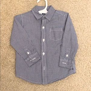 Janie and Jack baby gingham button down shirt